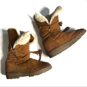 J CREW Suede Shearling Adirondack Winter Boots